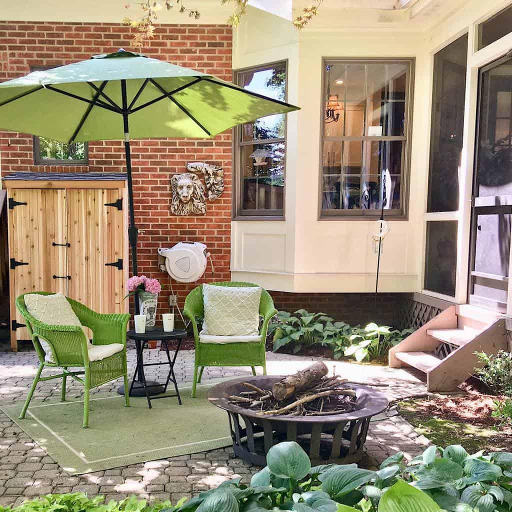 Firepit Patio Garden Ideas -ahousewren