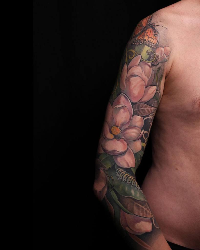 Floral 34 sleeve tattoo gabrieltenneson