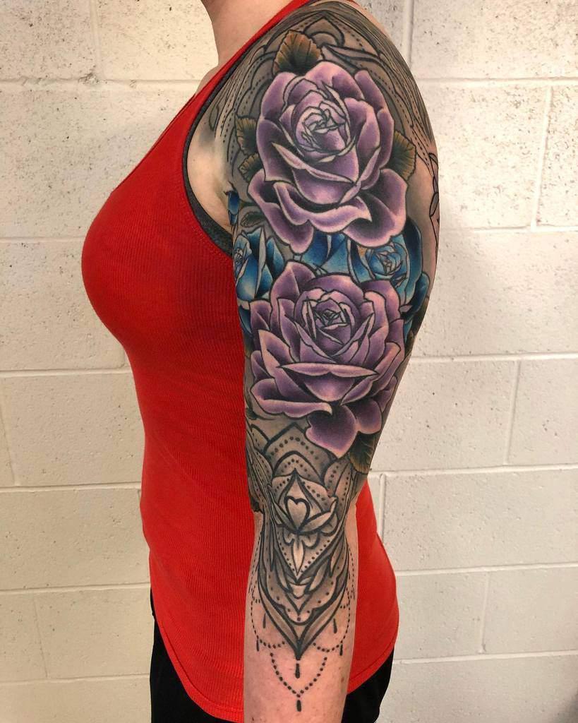 Floral 34 sleeve tattoo i_am_blackwood