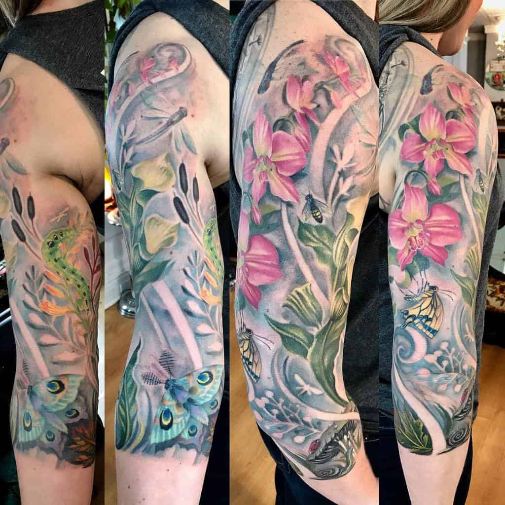 Floral 34 sleeve tattoo inkorperated
