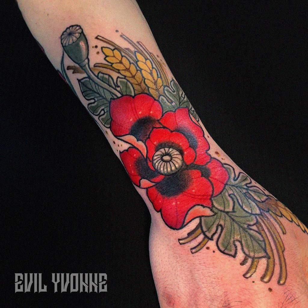 Floral Art Nouveau Tattoo Evil.yvonne