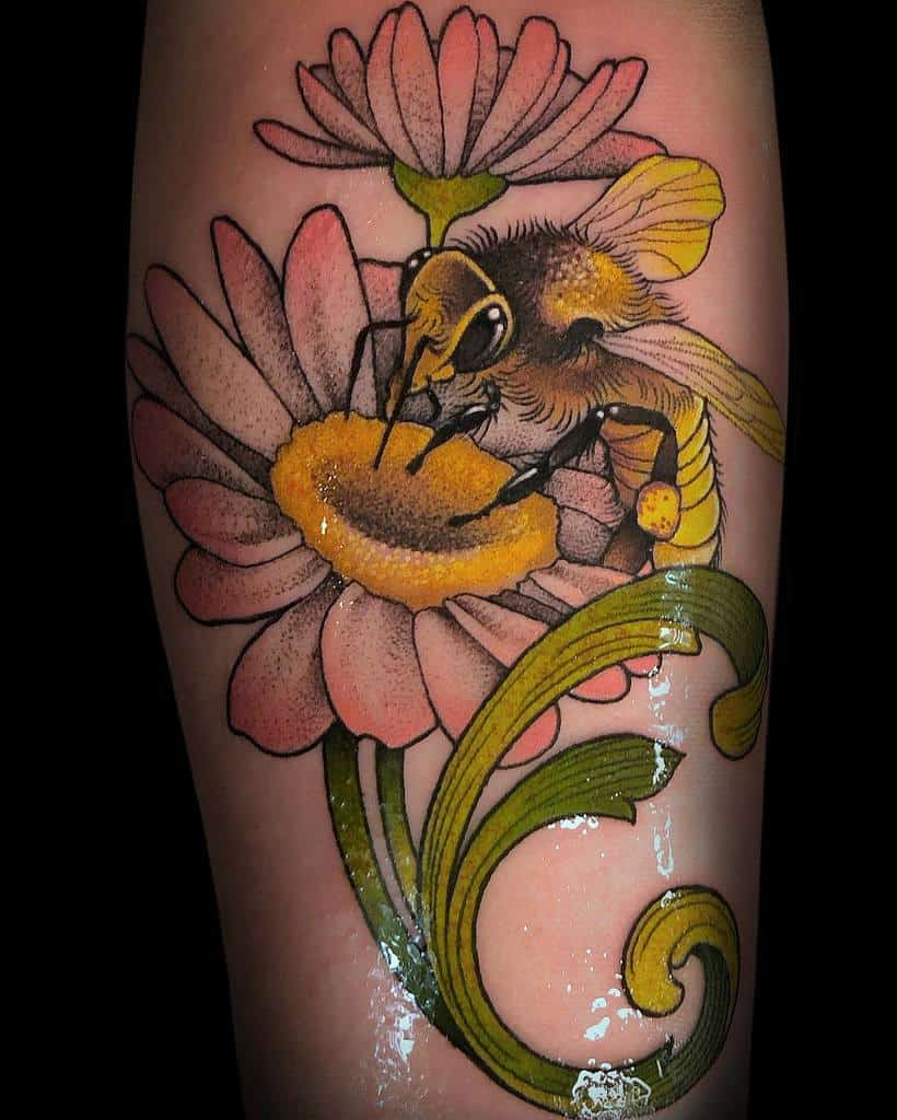 Floral Art Nouveau Tattoo Marialucero.ink