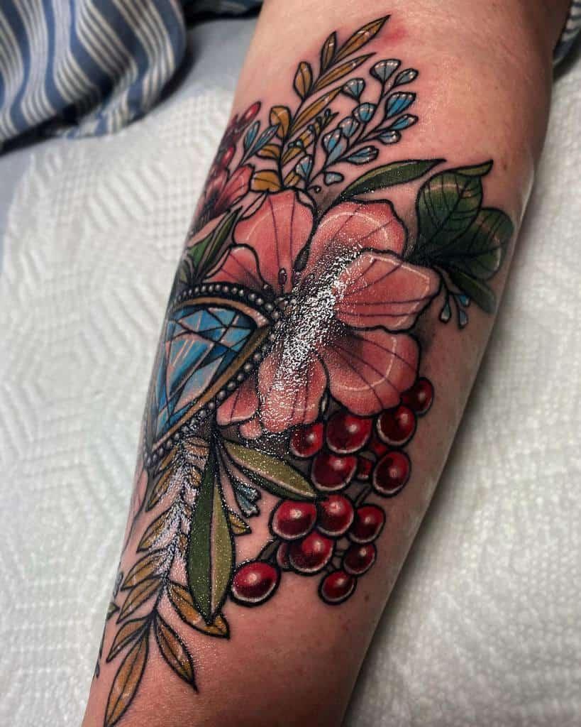 Floral Art Nouveau Tattoo Rennietattoo