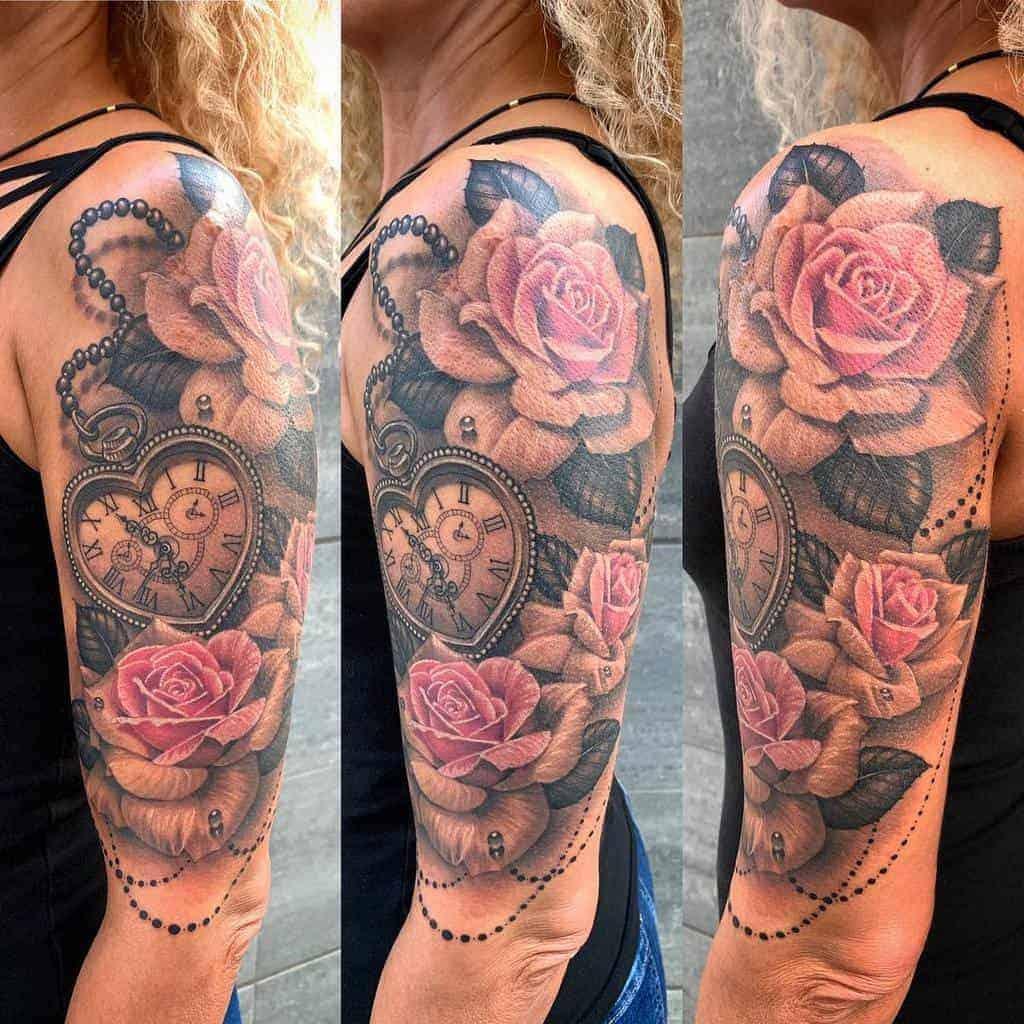 Floral-Half-Sleeve-Tattoos-For-Women-aydanbg