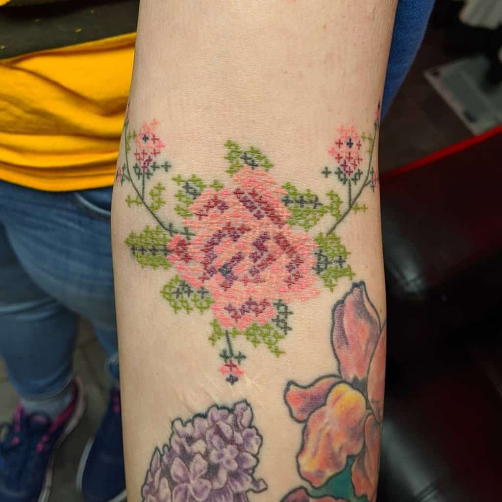 Floral Themed Cross Stitch Anthonyniceleytattoos