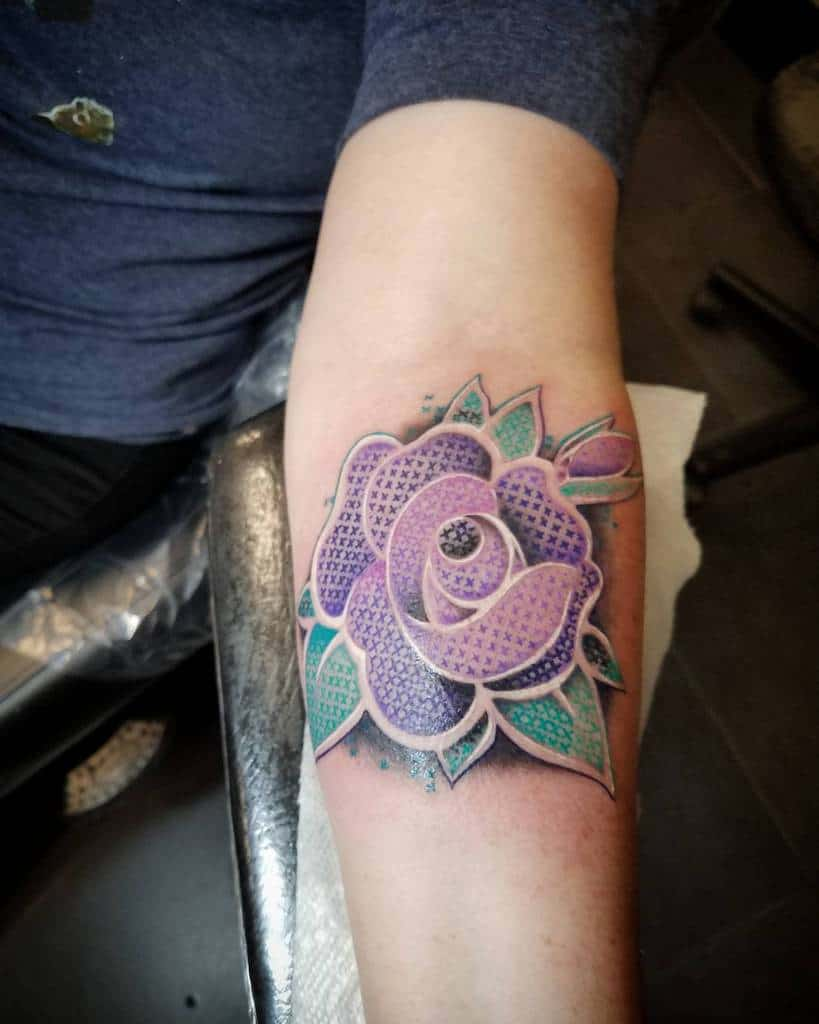Floral Themed Cross Stitch Tattoosbyaj