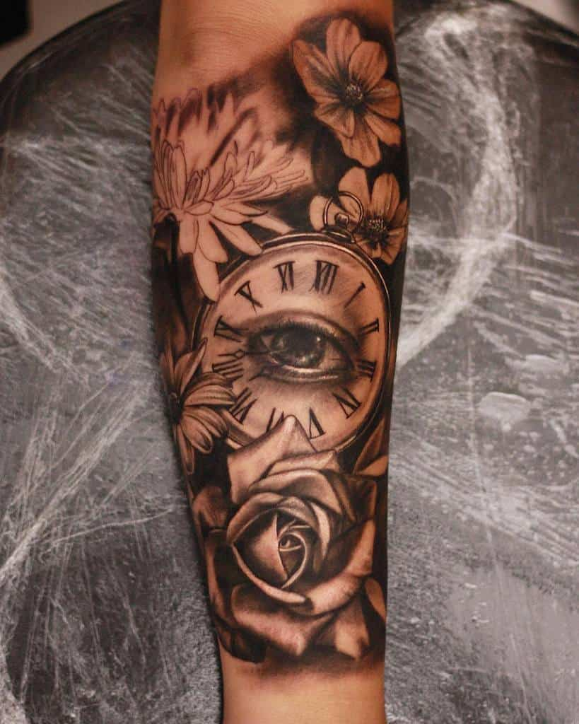 Flower Tattoo Sleeve Filler jadey241288