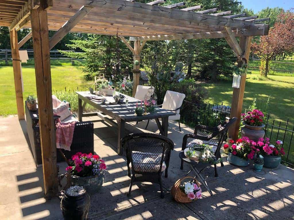 Flowers Patio Garden Ideas -touchofeleganceinteriors