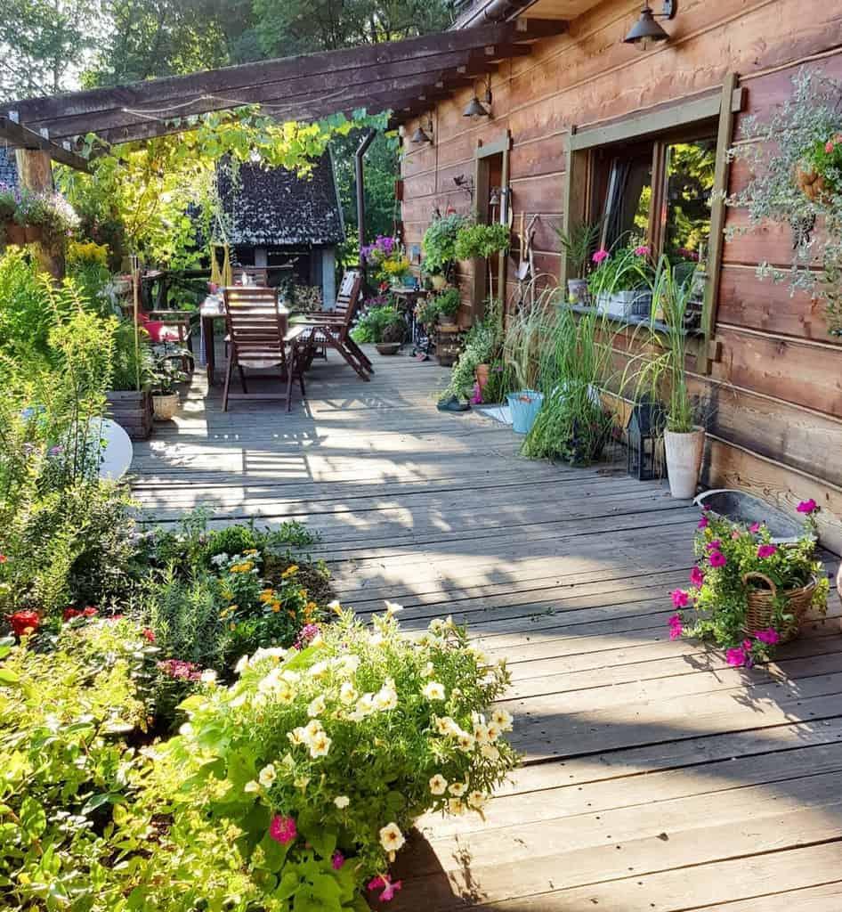 Flowers Patio Garden Ideas -wpieknymwnetrzu