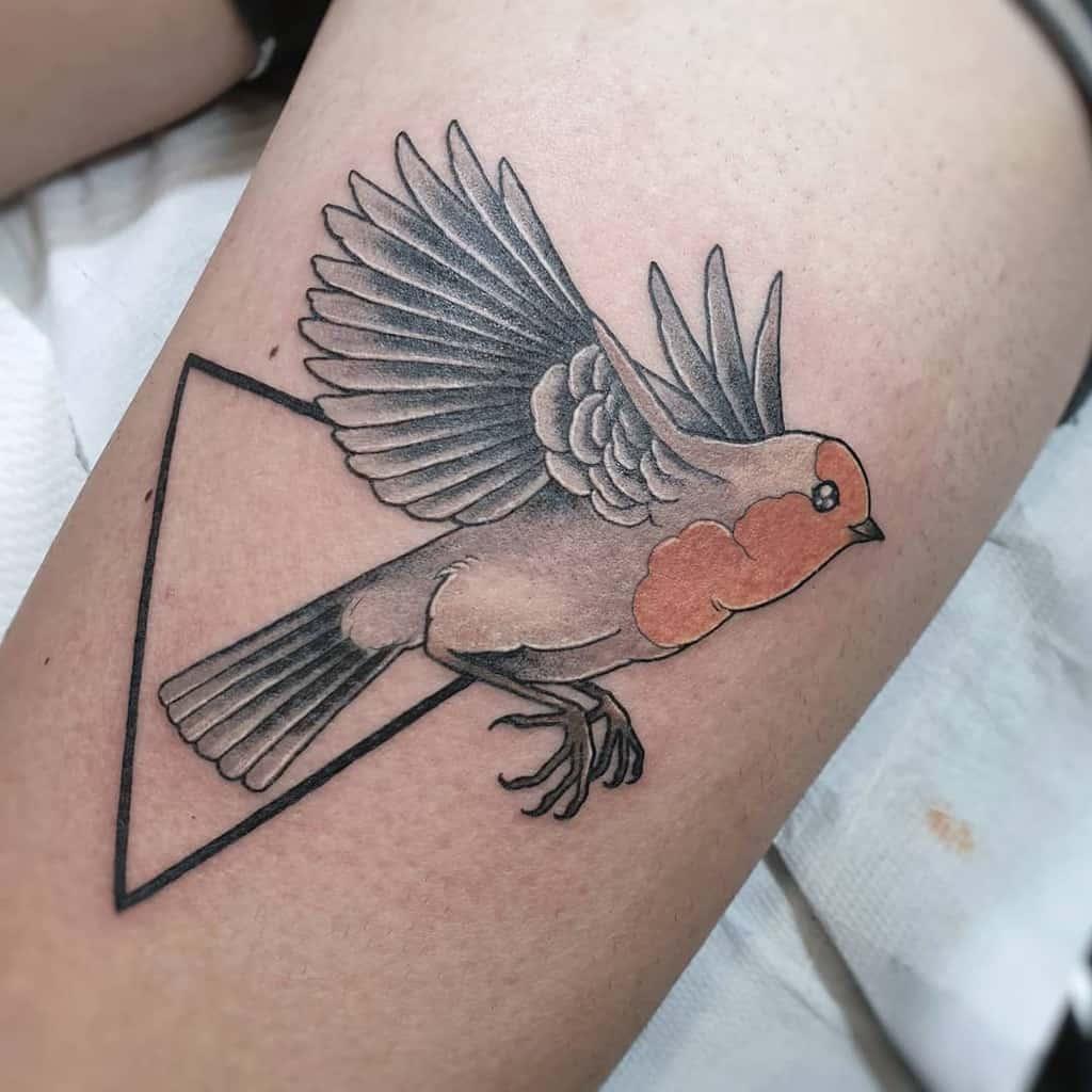 Flying Robin Tattoo Giulia Montanari