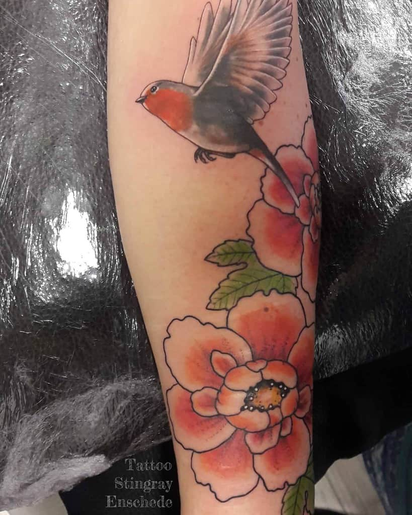 Flying Robin Tattoo Tattoo Stingray Enschede