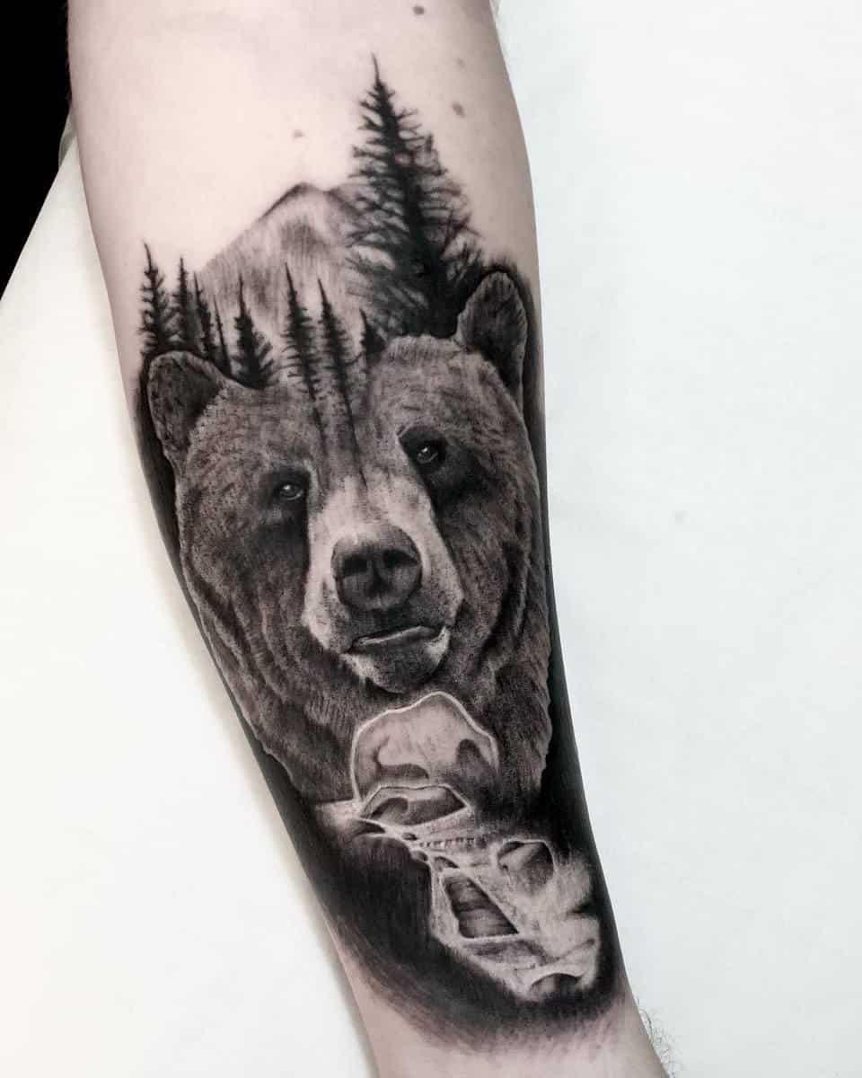 Forearm Black Bear Tattoo blacksheepleek