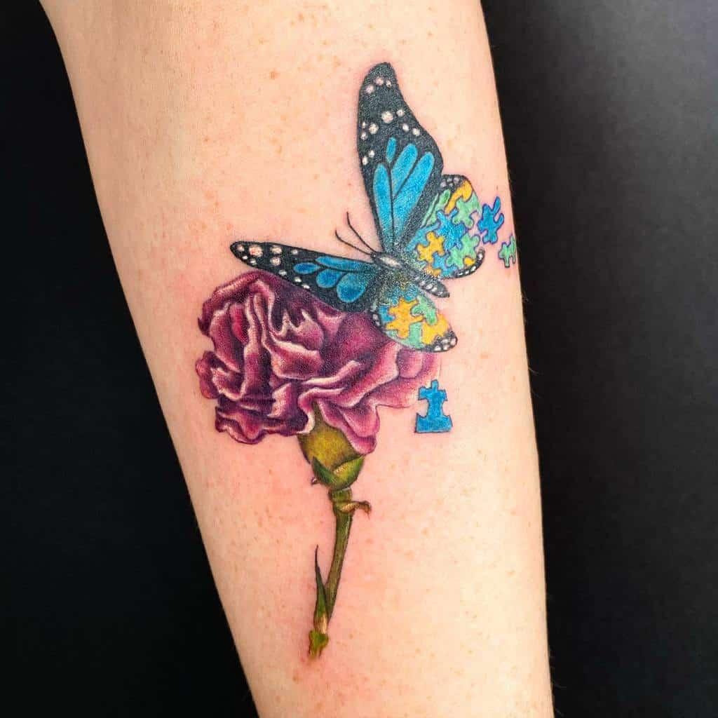 Forearm Blue Butterfly Tattoos brookeandcanvas