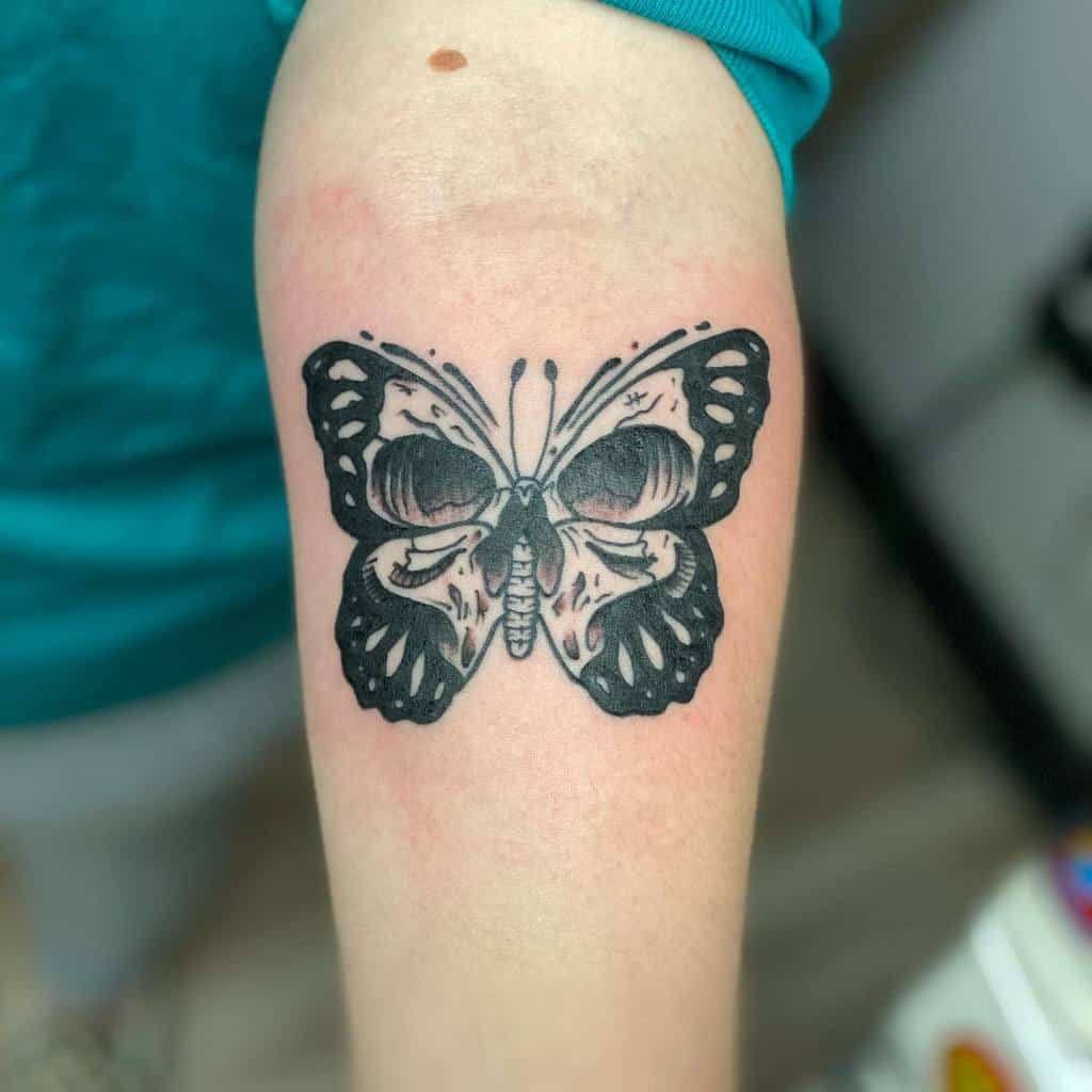 Forearm Butterfly Tattoo Meaning sethmorgn