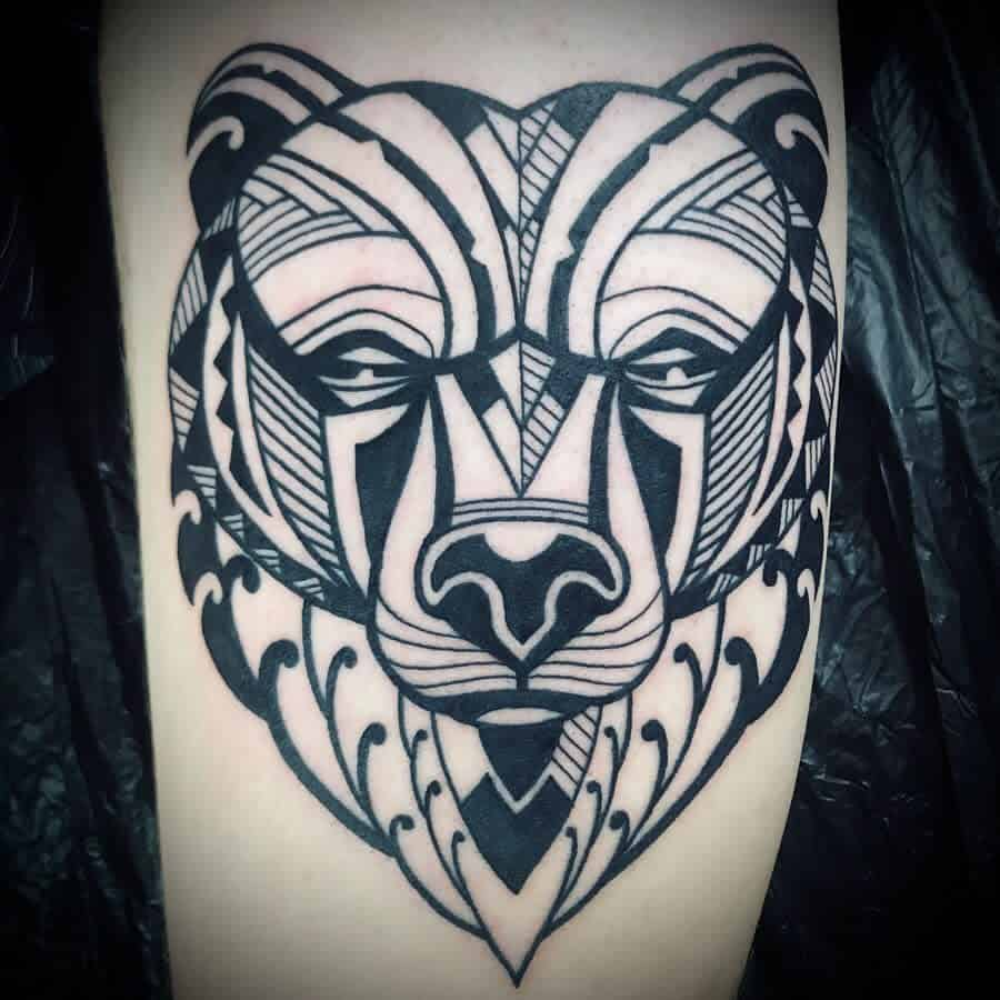 Forearm Tribal Bear Tattoo dantzat2