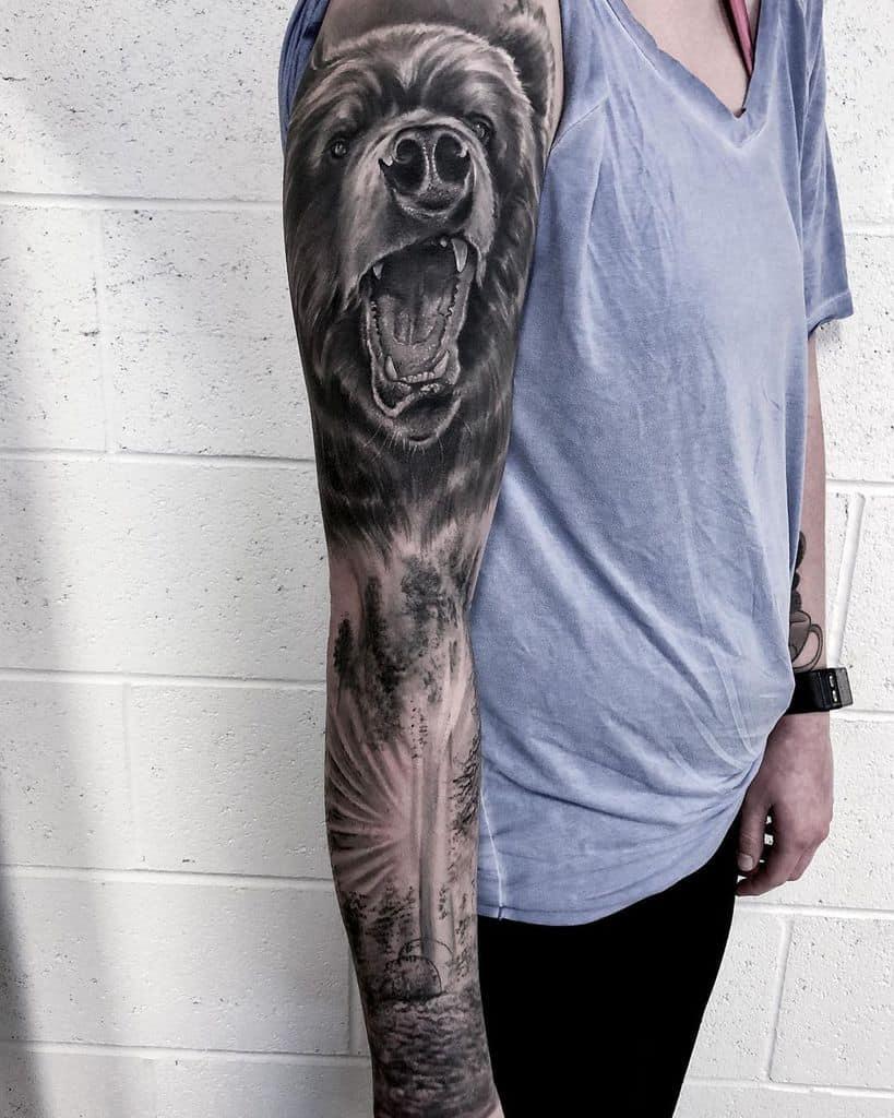 Forest Sleeve Tattoos full sleeve i_am_blackwood