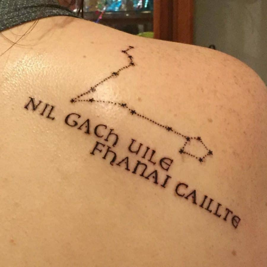 Gaelic Horoscope Shoulder Tattoo