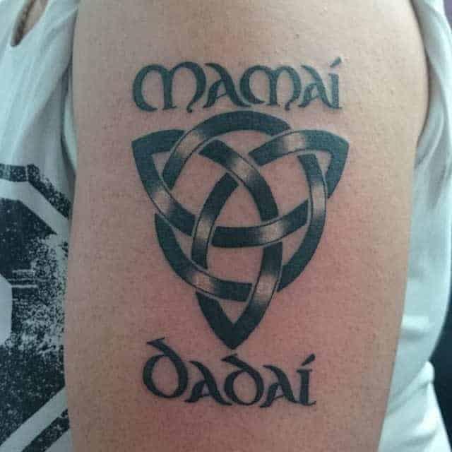 Gaelic Knot Heavy Black Tattoo