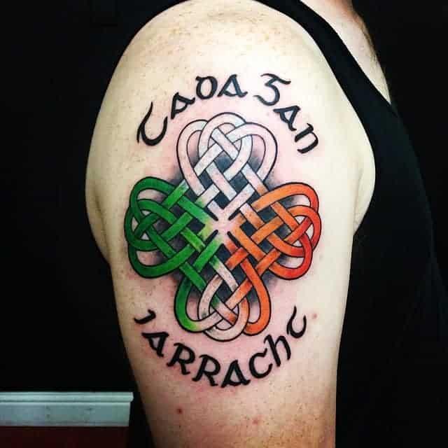 Gaelic Script Celtic Knot Tattoo