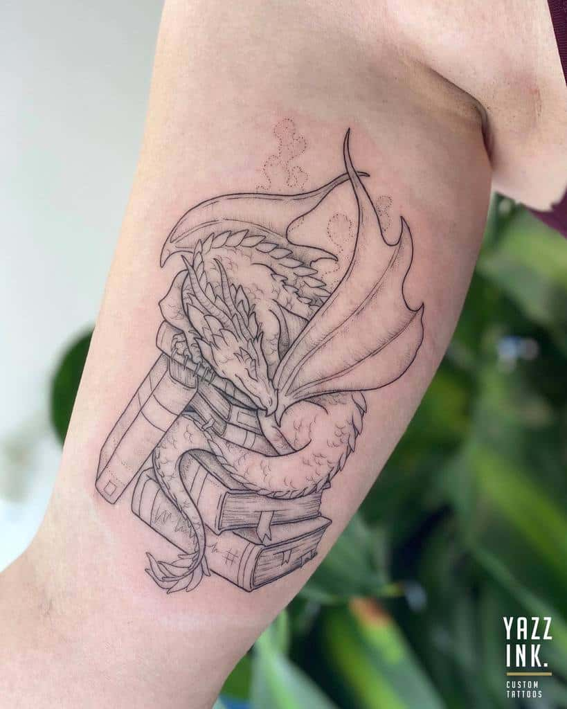 Game of Thrones Dragon Upperarm Tattoo yazzink