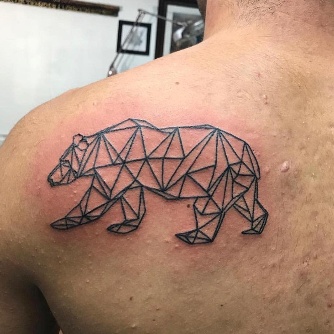 Geometric Black Bear Tattoo bearded_beast_79