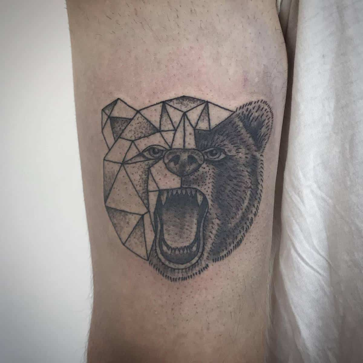 Geometric Black Bear Tattoo jonnybreeze