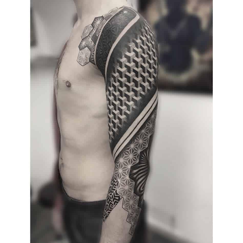 Geometric Tattoo Sleeve Filler nedy_ju
