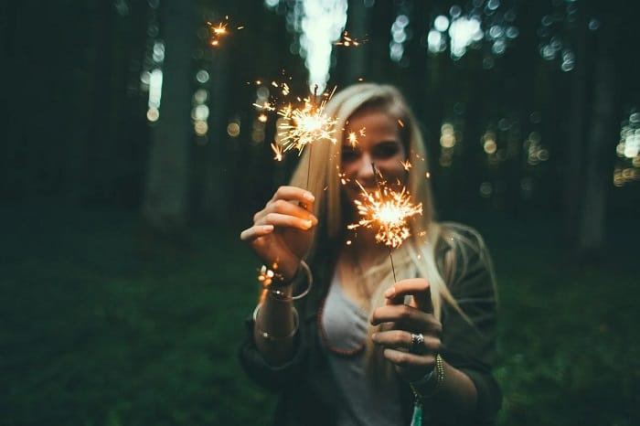 Girl With Sparklers