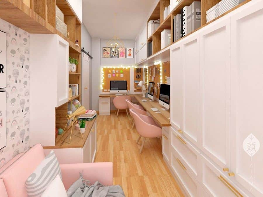 Girls Study Room Ideas atama.diseno.arquitectura