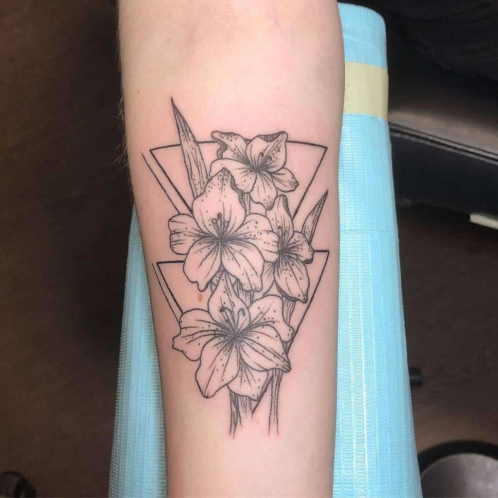 Gladiolus Flower Forearm Tattoo _kellidonegan