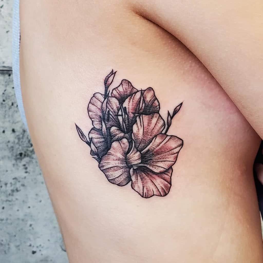 Gladiolus Flower Rib Tattoo krxu.ink