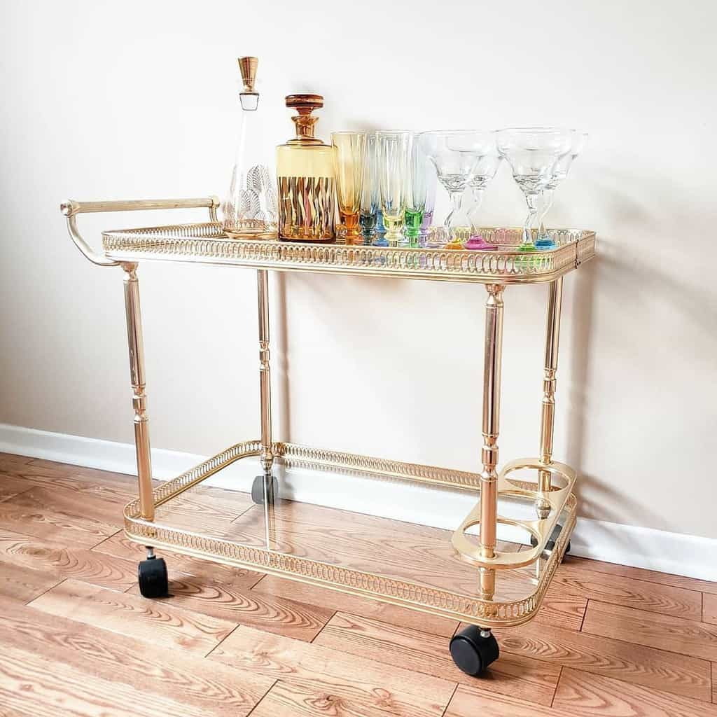 Glass Bar Cart Ideas -bohovalley