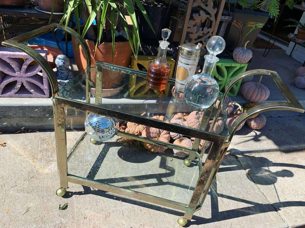 Glass Bar Cart Ideas -hakaarsbazaar