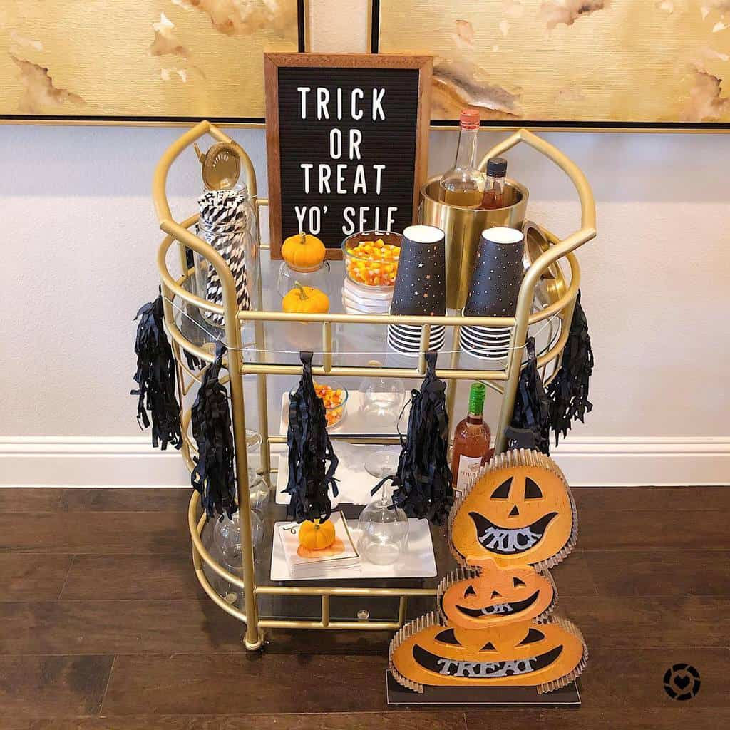 Glass Bar Cart Ideas -talishabaileyinteriors
