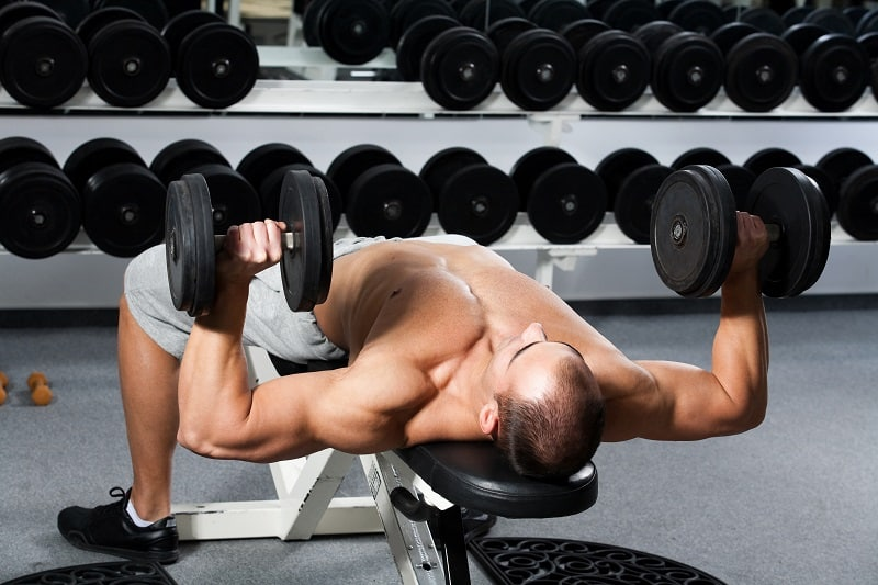 Glute-Bridge-and-Chest-Press-Dumbbell-Exercises