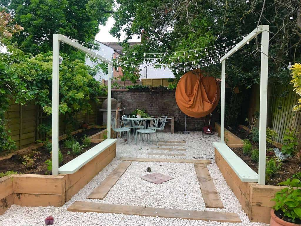 Gravel Patio Garden Ideas -creativelivingwithbarb