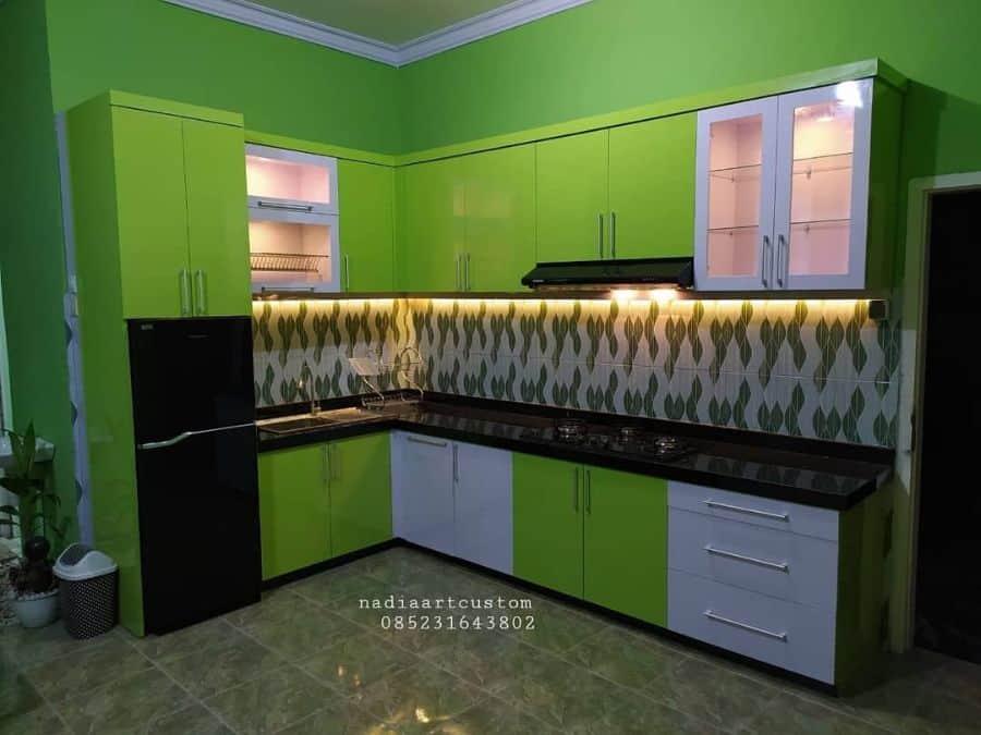 Green Kitchen Cabinet Color Ideas nadiaartcustom