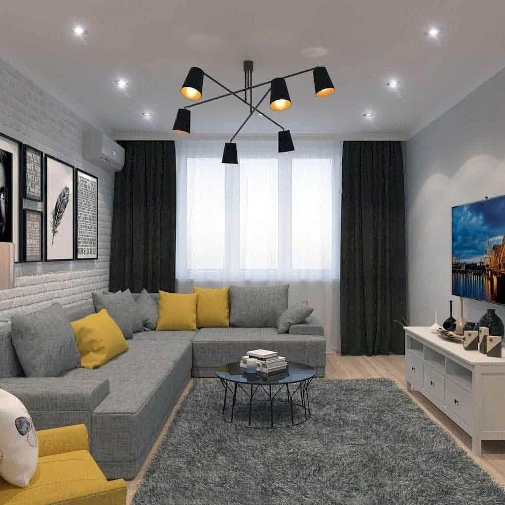 Grey Living Room Carpet ideas -cozyhomeland