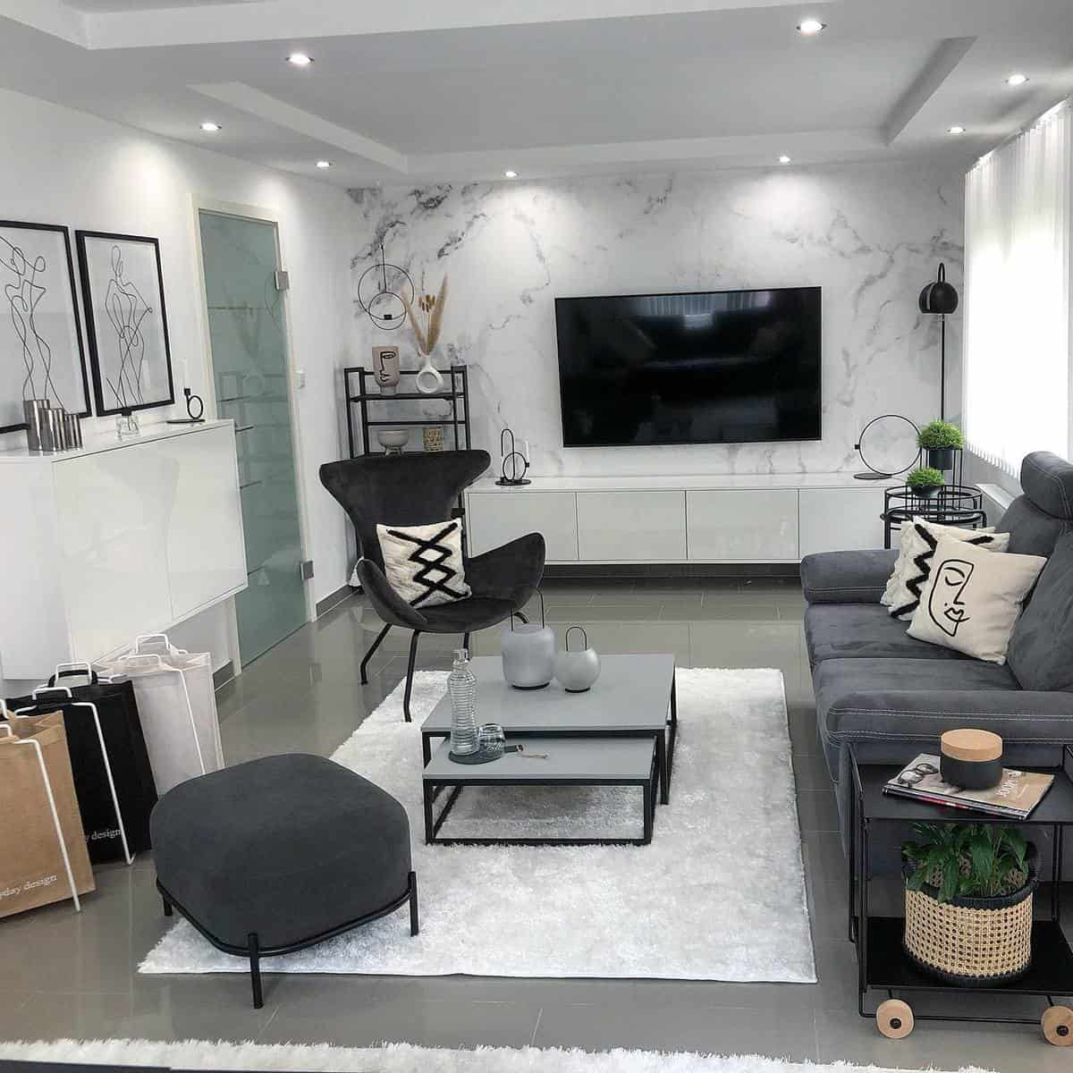 Grey Sofa Living Room Carpet ideas -yasmins_sweethome