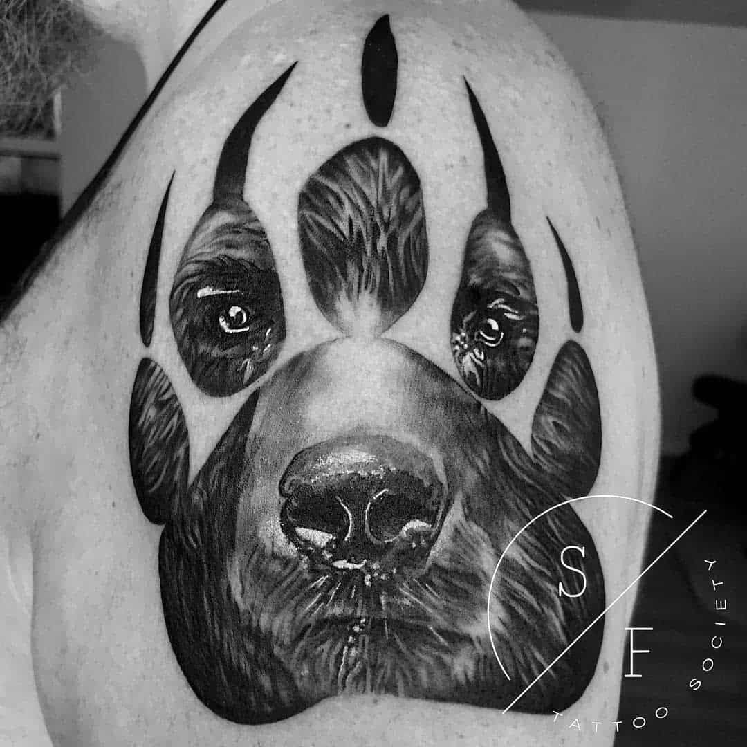 Grizzly Bear Paw Tattoo sftattoosociety