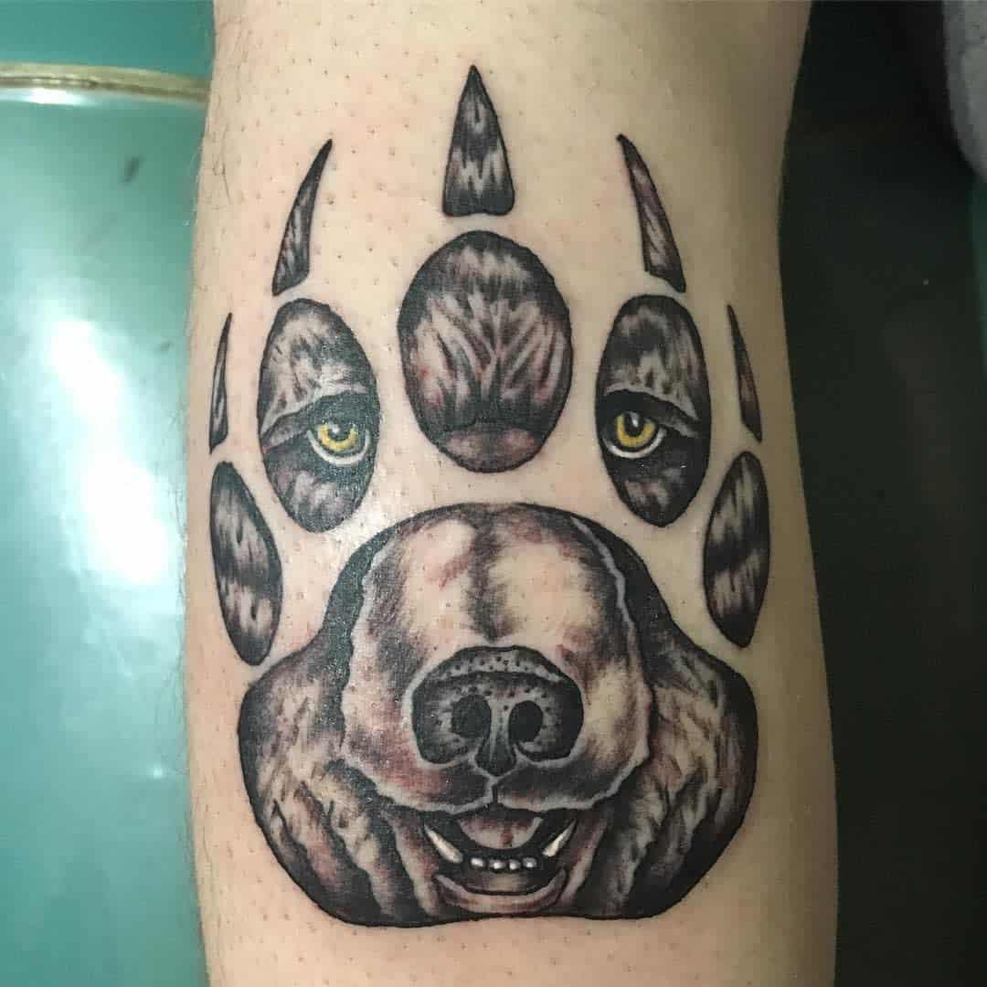 Grizzly Bear Paw Tattoo union13tattoo