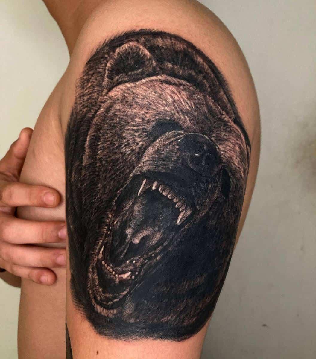 Grizzly Black Bear Tattoo heon_tt