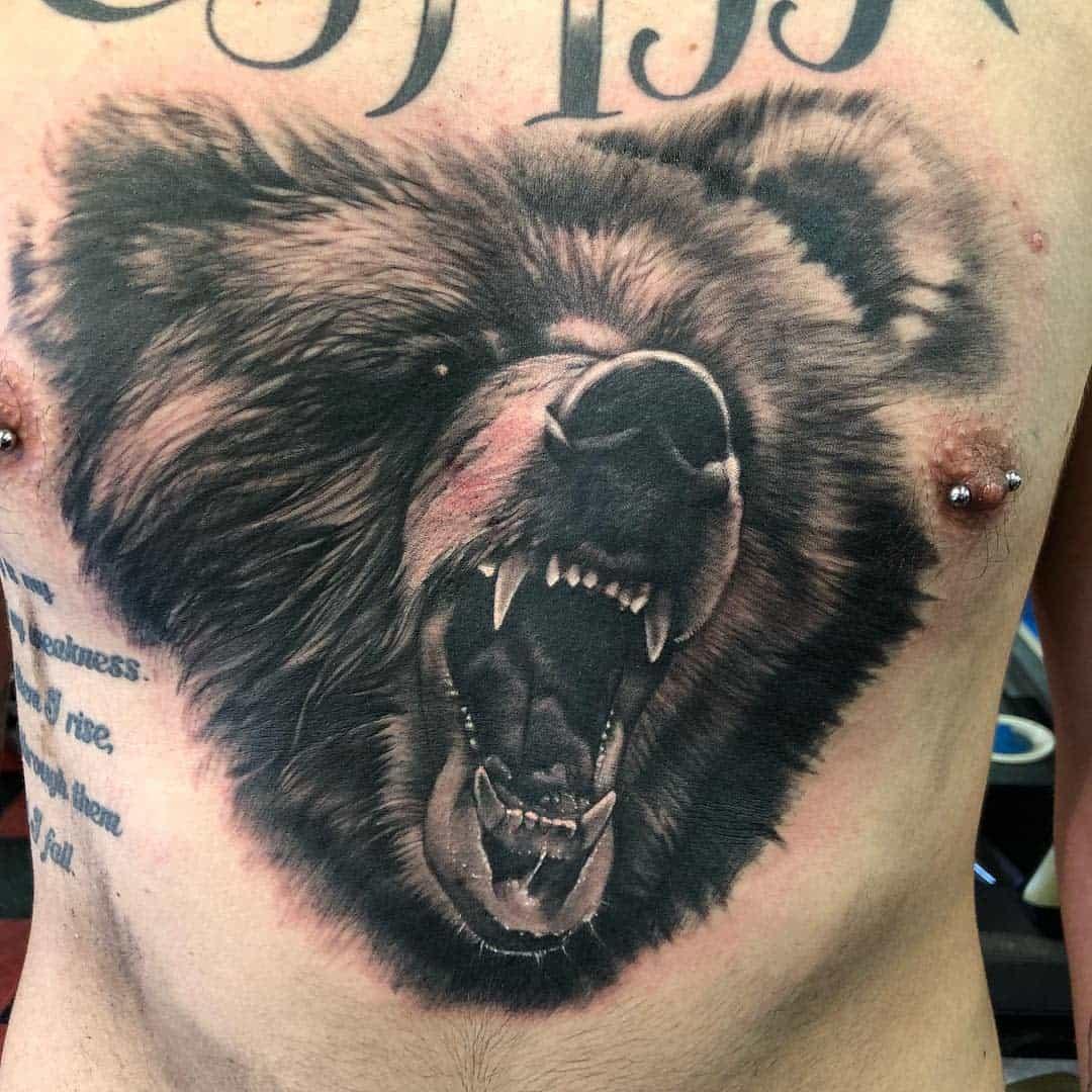Grizzly Black Bear Tattoo southsidetattooashland
