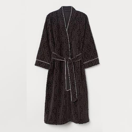 H&M Jacquard- Weave Bathrobe