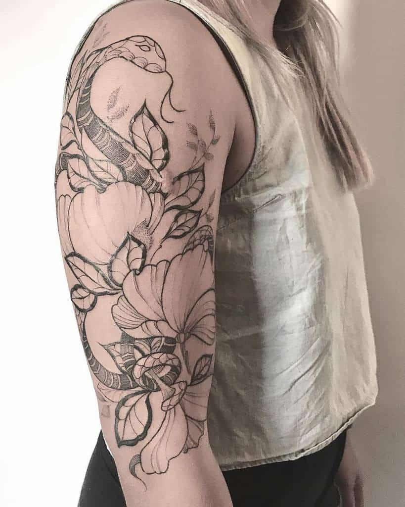 Half Sleeve Arm Tattoos for Women arielnirakara
