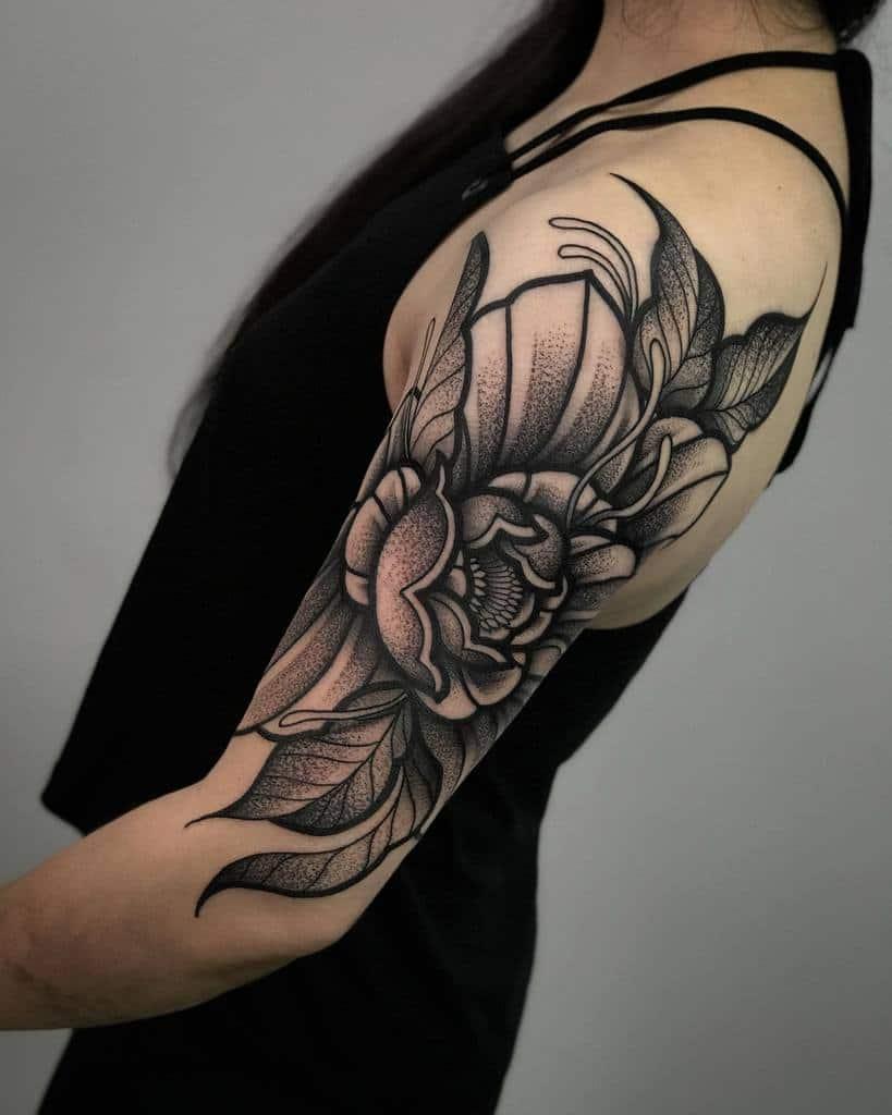 Half Sleeve Arm Tattoos for Women artofsimonsi