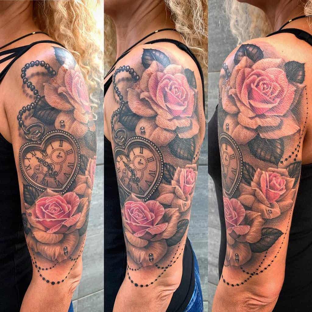 Half Sleeve Arm Tattoos for Women aydanbg