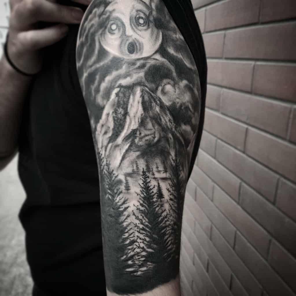Half sleeve Forest Sleeve Tattoos clunak.tattoo