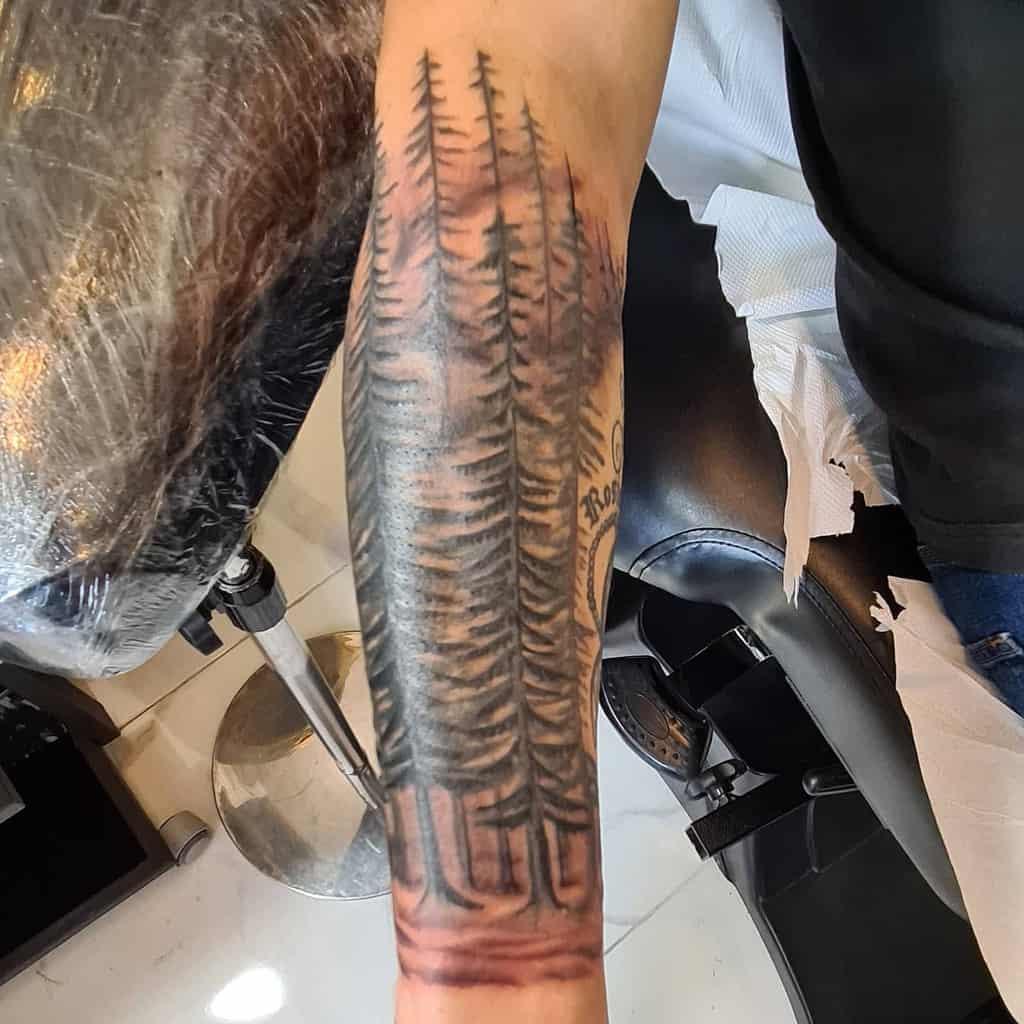 Half sleeve Forest Sleeve Tattoos dracol33
