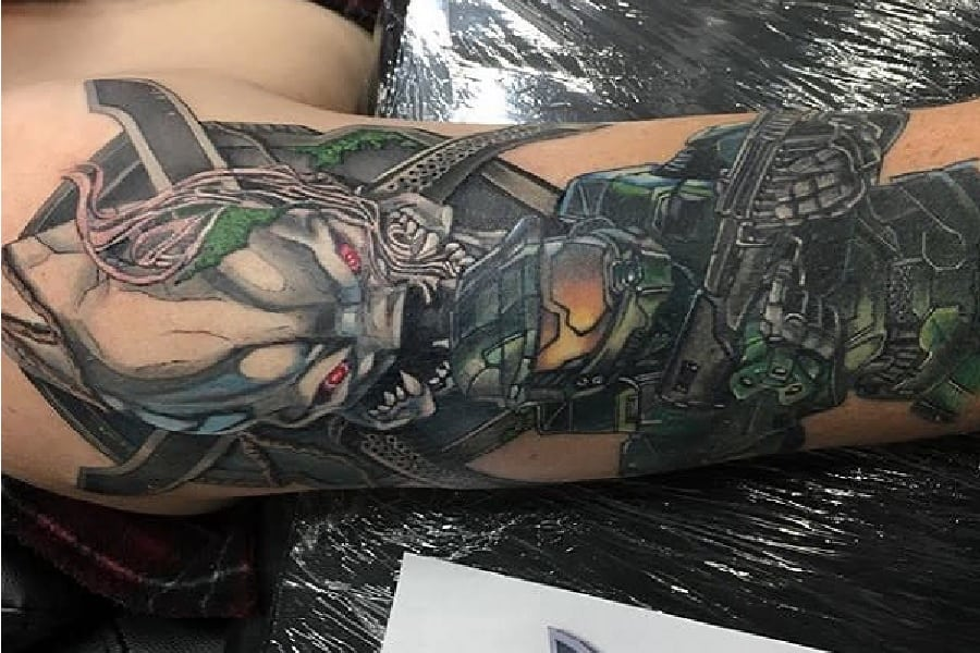 Top 37 Best Halo Tattoo Ideas – [2020 Inspiration Guide]
